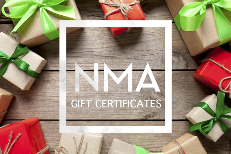 nma gift certificates